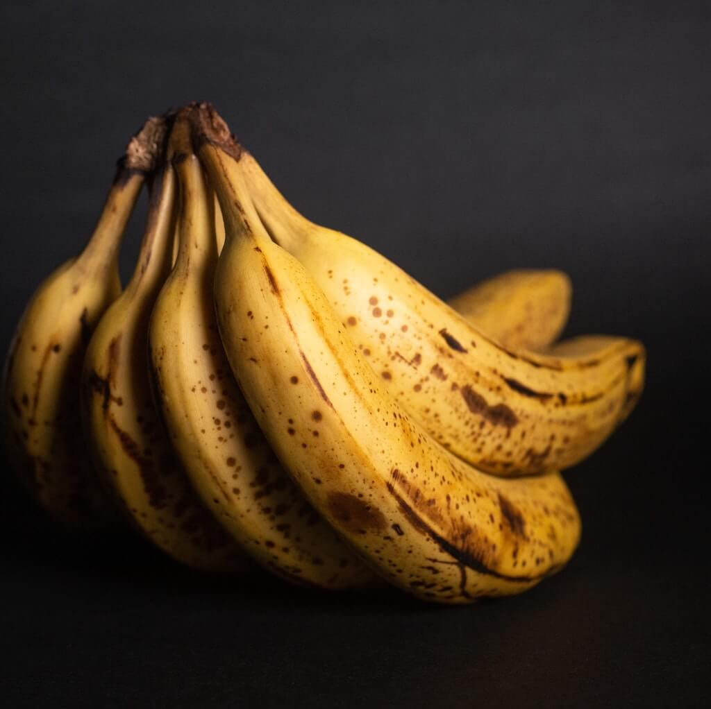 What does an overripe banana look like?